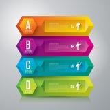 Infographics designmall Royaltyfria Bilder
