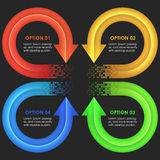 Infographics designmall Runda pilar Royaltyfri Fotografi