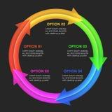 Infographics designmall Runda pilar Arkivfoto