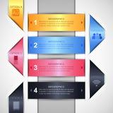 Infographics-Designschablone Stockfotografie