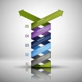 Infographics-Designschablone Lizenzfreies Stockbild