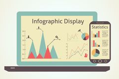 Infographics devices Royalty Free Stock Photo