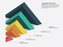 Infographics di affari con le fasi di un imbuto di vendite Fotografia Stock Libera da Diritti