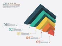 Infographics di affari con le fasi di un imbuto di vendite Immagine Stock