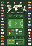 Infographics di calcio Immagini Stock Libere da Diritti