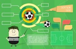 Infographics di calcio Fotografia Stock Libera da Diritti
