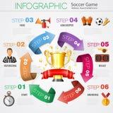Infographics di calcio Fotografia Stock