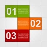 Infographics di carta astratto Fotografia Stock