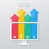 Infographics di carta della freccia Fotografie Stock
