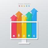 Infographics di carta della freccia Fotografia Stock