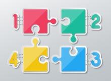 Infographics di carta di puzzle Fotografie Stock Libere da Diritti