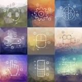 Infographics di cronologia di tecnologia con vago Immagini Stock Libere da Diritti