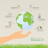 infographics di eco Immagine Stock