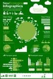 Infographics di ecologia - elementi di ENERGIA Fotografia Stock