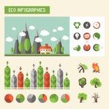 Infographics di ecologia Insieme di vettore Immagini Stock