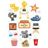 Infographics di film e del cinema Fotografia Stock