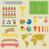 Infographics di Fottball Fotografie Stock Libere da Diritti