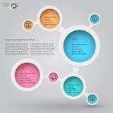 Infographics 3 di Metaball Fotografie Stock Libere da Diritti