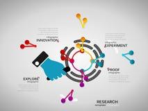 Infographics di ricerca Fotografia Stock