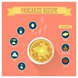 Infographics di ricetta dei pancake Fotografie Stock Libere da Diritti