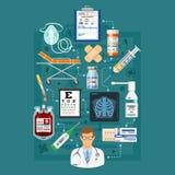 Infographics di servizi medici Fotografia Stock Libera da Diritti