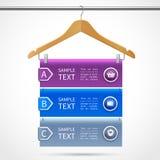 Infographics di vendita della gruccia per vestiti illustrazione di stock