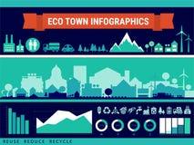 Infographics di vettore Città e villaggio Fotografie Stock