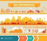Infographics di vettore Città e villaggio Fotografia Stock