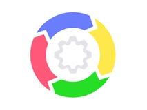 Infographics, diagramme de cercle de cycle Photographie stock