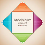 Infographics diamond Stock Images