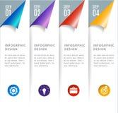 Infographics digital moderno abstrato da bandeira do vetor do molde 3D ilustração royalty free