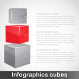 Infographics do cubo Foto de Stock