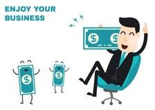 Infographics do homem de negócio Fotos de Stock Royalty Free
