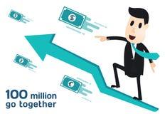 Infographics do homem de negócio Foto de Stock