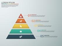 Infographics do negócio com fases de um funil das vendas Imagem de Stock Royalty Free