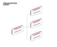 Infographics do organograma com árvore Ilustração do vetor Fotos de Stock Royalty Free