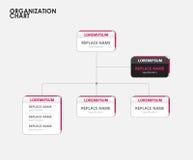Infographics do organograma com árvore Ilustração do vetor Fotos de Stock