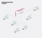Infographics do organograma com árvore Ilustração do vetor Imagens de Stock