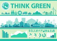 Infographics do vetor Cidade e vila Imagens de Stock