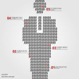 Infographics dolara amerykańskiego znaka projekta szablon Fotografia Stock