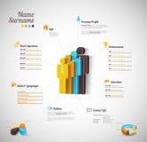 Infographics dos pessoais Fotos de Stock Royalty Free
