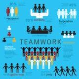 Infographics dos trabalhos de equipa Fotografia de Stock Royalty Free