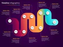 Infographics dos trabalhos do espaço temporal do negócio Marcos miliários incorporados GR Imagens de Stock Royalty Free