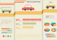 Infographics du transport Photo libre de droits