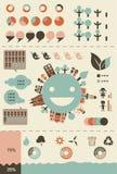 Infographics e cartas ecológicos Imagem de Stock