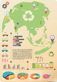 An infographics of the Earth Royalty Free Stock Image