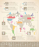 Infographics With Earth Map Stock Photo