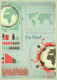 Infographics Eco Planet Earth and Construction Stock Image