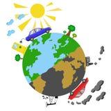 Infographics ecologico di concetto Fotografia Stock
