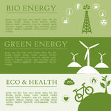 Infographics ecology Royalty Free Stock Photography